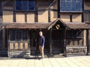 Me outside the House where Shakespeare was born!